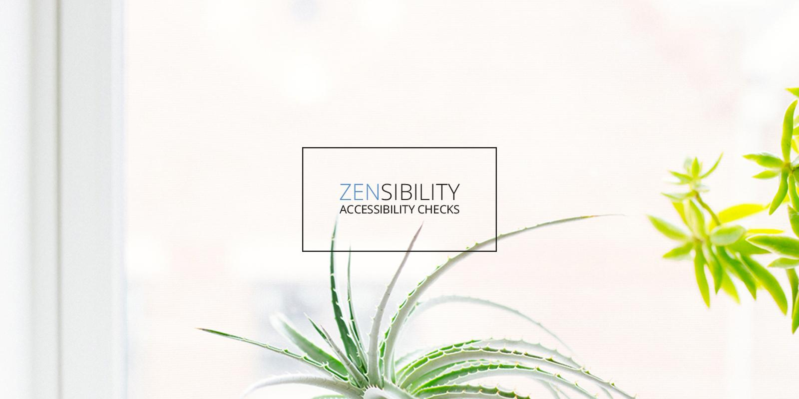 Flower in front of a window - Logo Accessibility Zensibility website check
